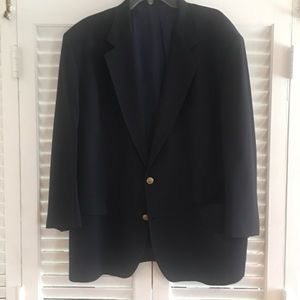 Other - Pré-owned Navy Blazer Gold buttons 48R see photos